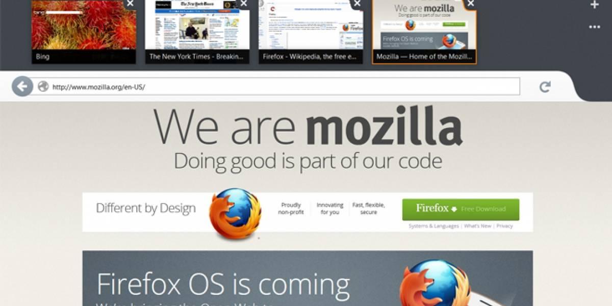 Ya se puede descargar el navegador Mozilla Firefox para Modern UI en Windows 8