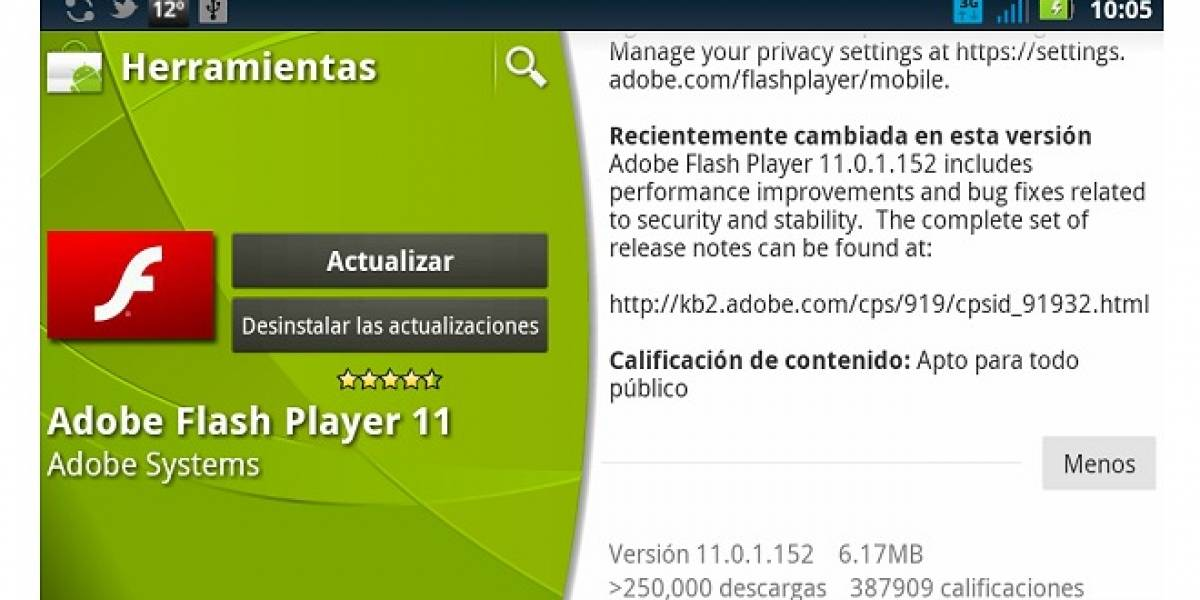 Adobe Flash Player 11 llega a Android