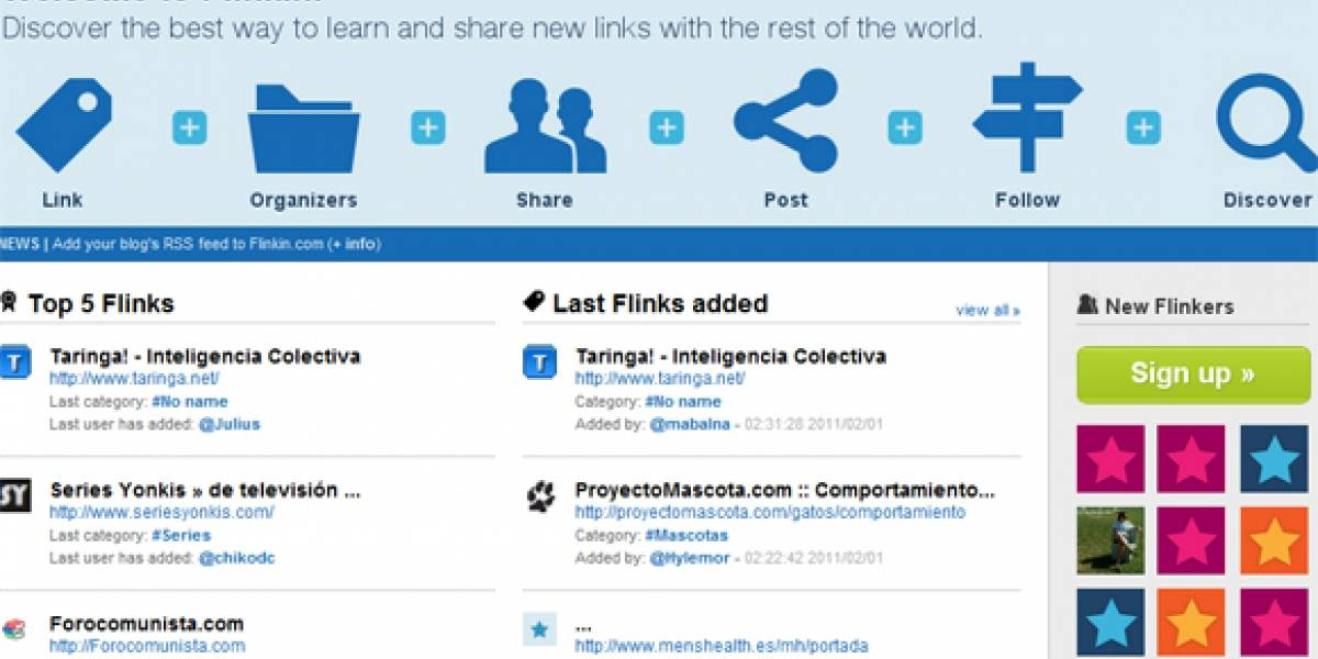 Nace Flinkin: La red social española para compartir enlaces