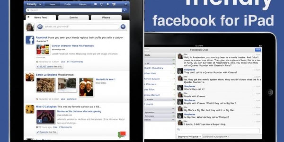 Aplicación de Facebook para iPad será lanzada en el evento del iPhone 5 el 04.10