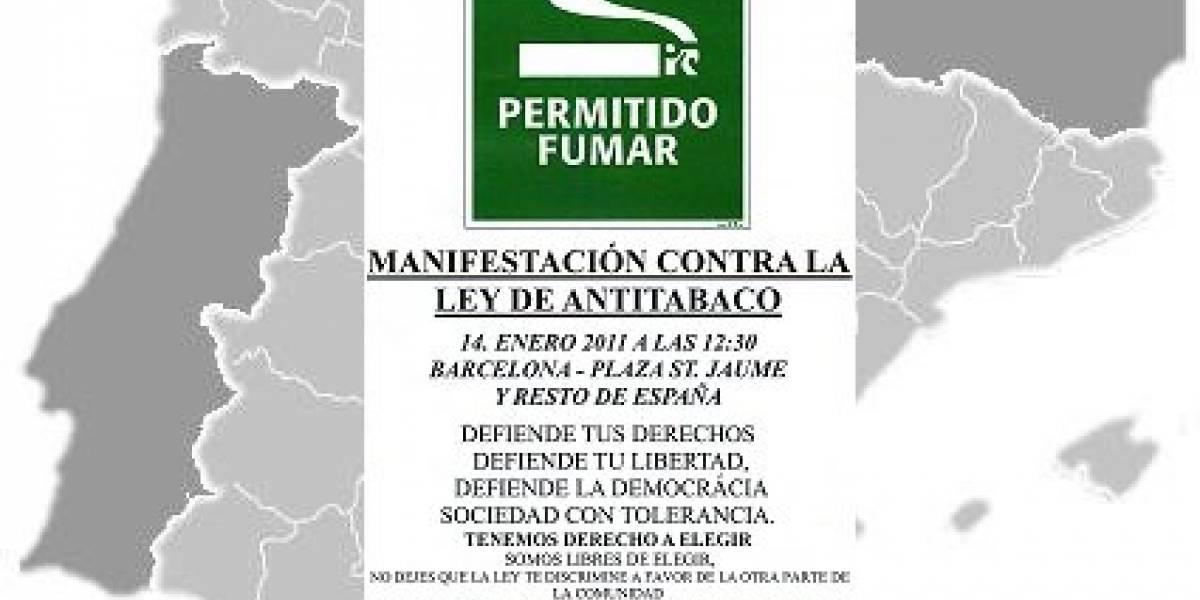 España: Fumadores convocan en Internet manifestación contra la ley antitabaco