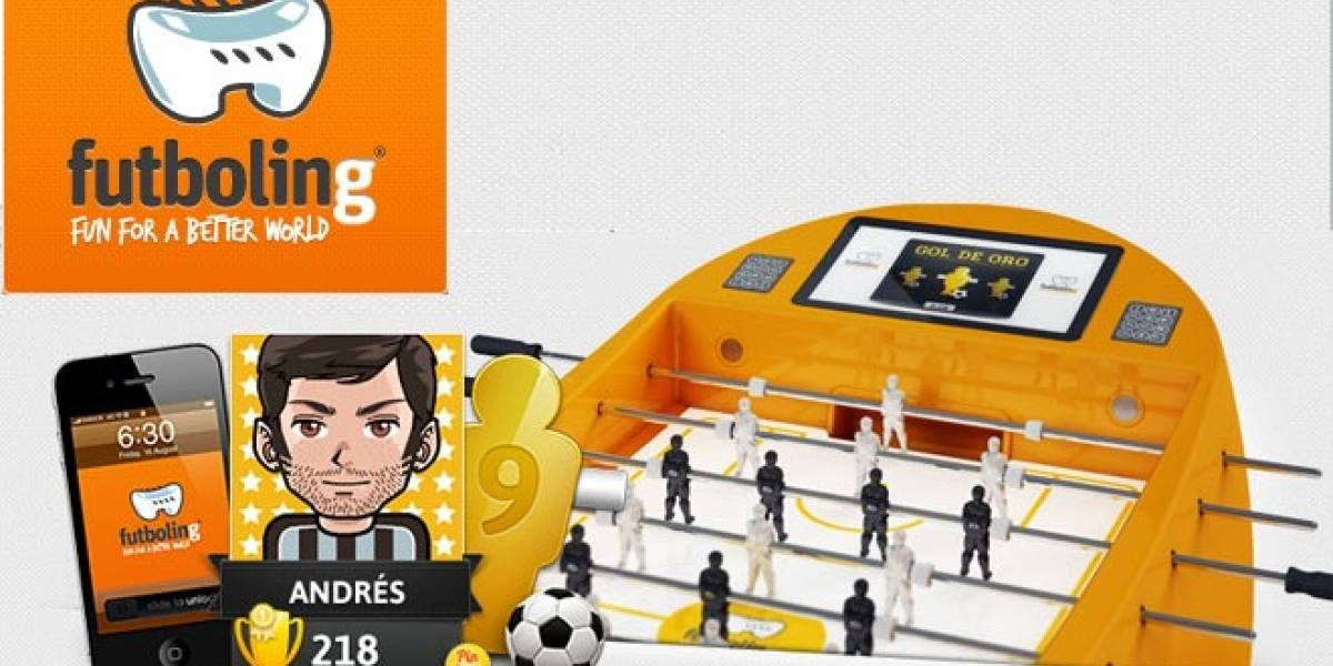 Futboling: Emprendedores españoles hacen 'tech' y solidario el futbolín de toda la vida