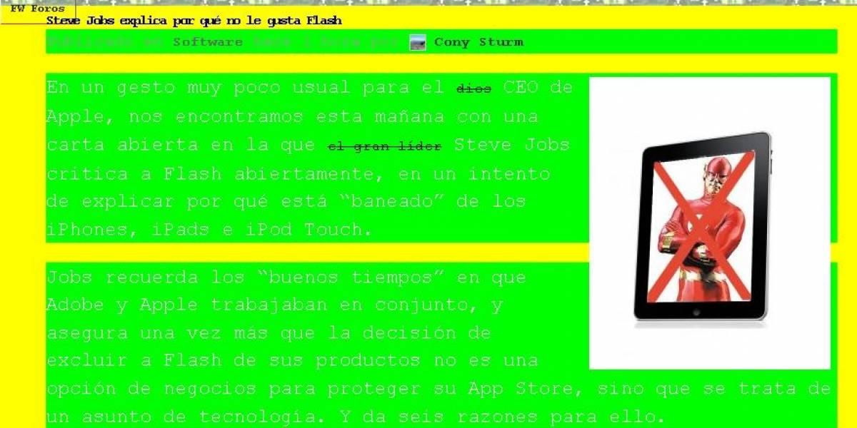 Cómo se vería tu sitio web si hubiera sido creado en los '90
