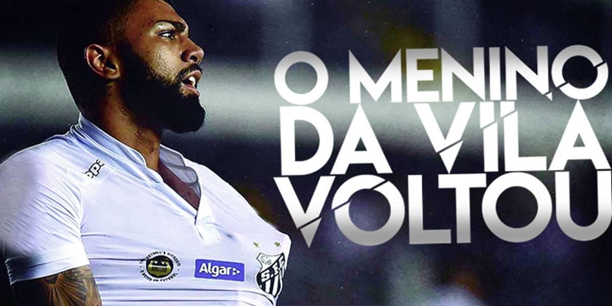 Gabigol celebra a volta ao Santos: 'Mais maduro'