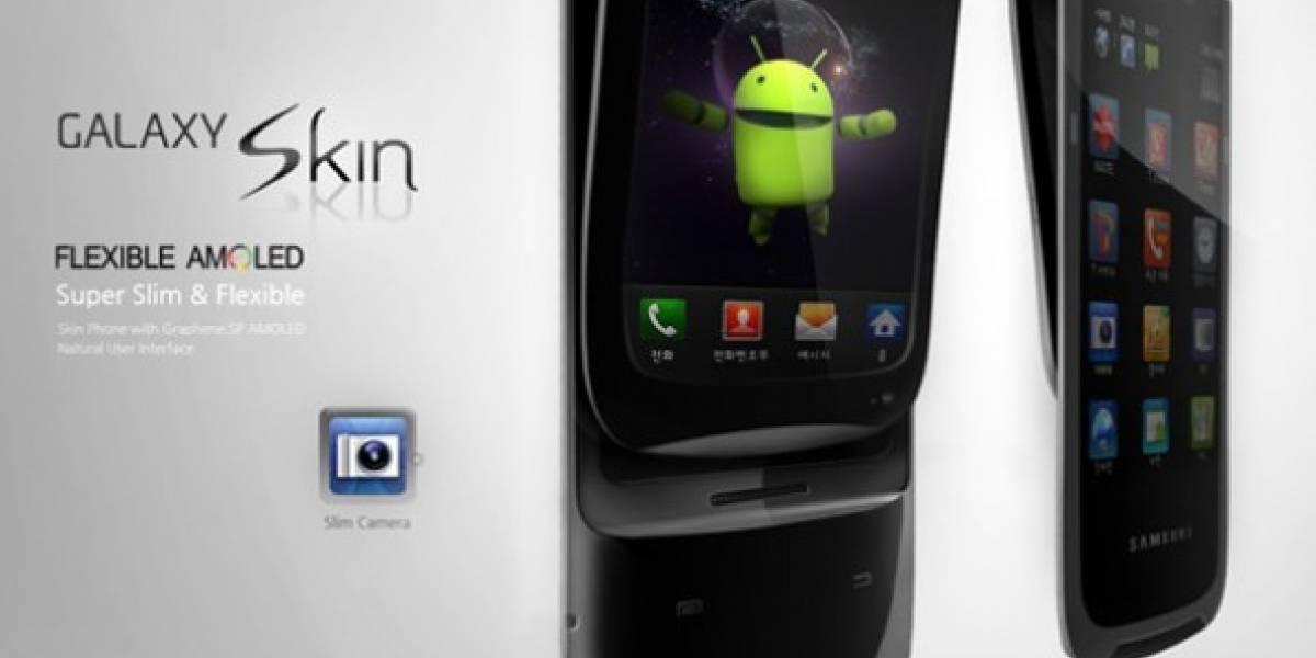 Concepto: Samsung Galaxy Skin, un móvil con pantalla AMOLED flexible