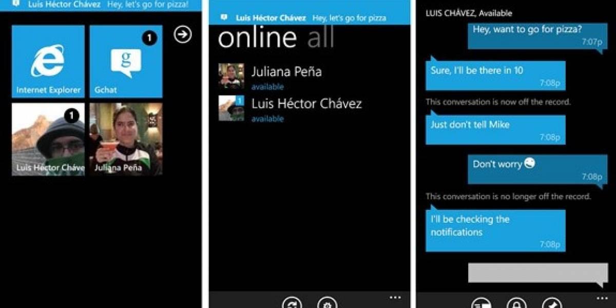 Gchat: Google Talk para Windows Phone