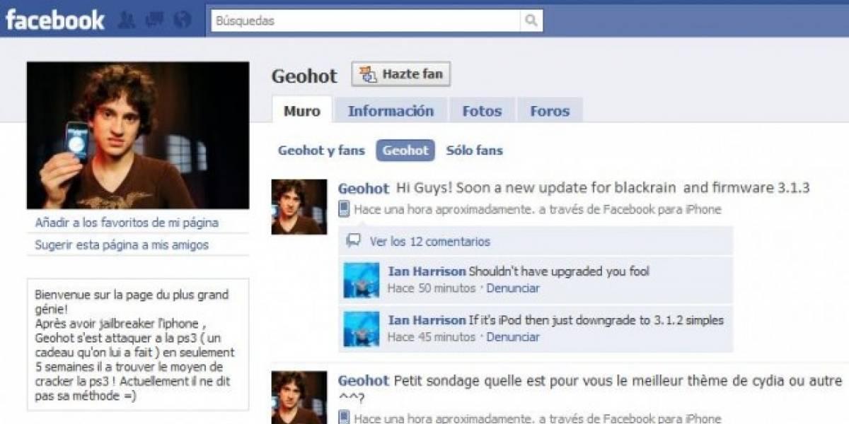 Geohot trabajará en Facebook desarrollando la app de la red social para iPad