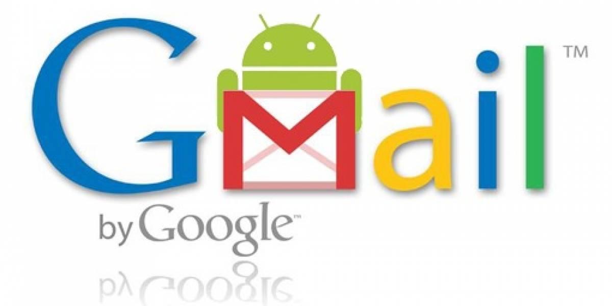 Gmail para Android actualizado a la versión 2.3.5