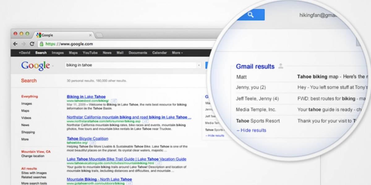 Google planea que tus e-mails aparezcan en los resultados de búsqueda