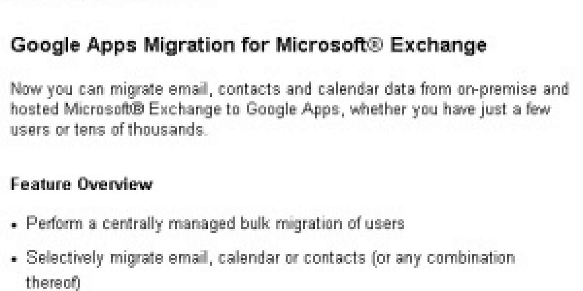 Google facilita la migración desde Exchange a Google Apps
