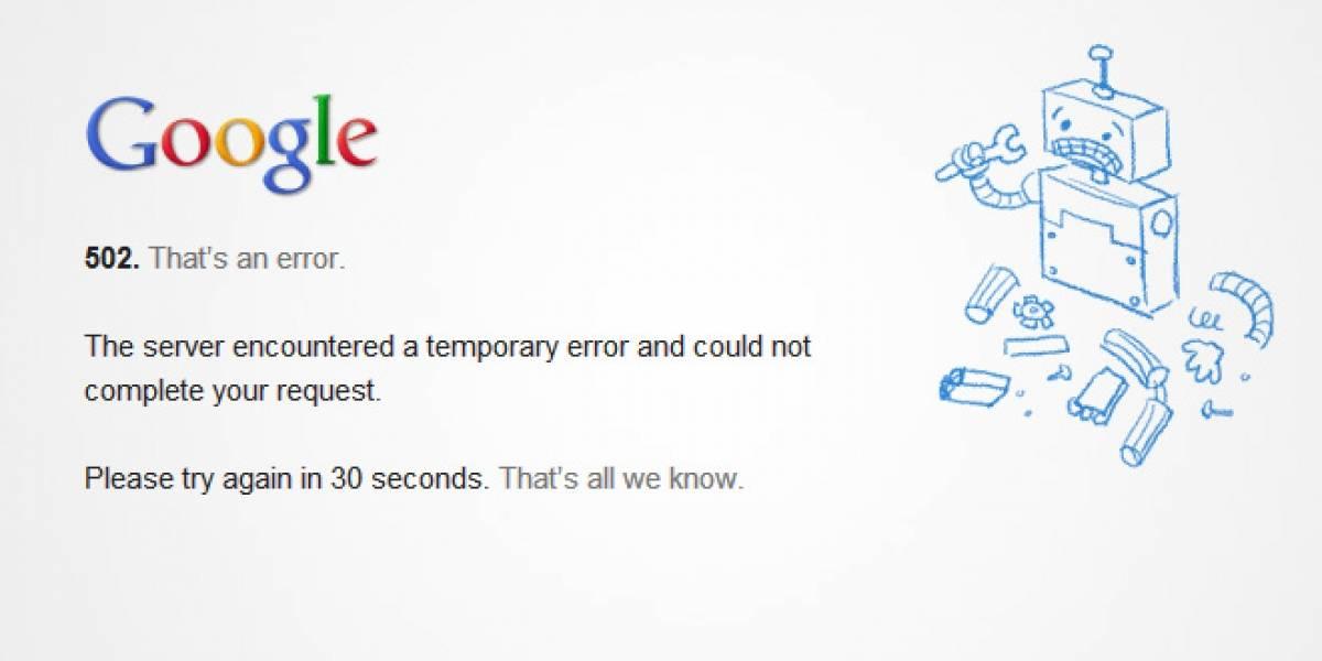 Gmail dejó de funcionar temporalmente
