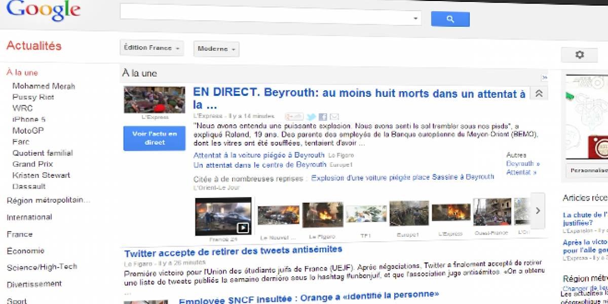"""Proyecto de ley en Francia complica a Google: """"Amenaza nuestra propia existencia"""""""