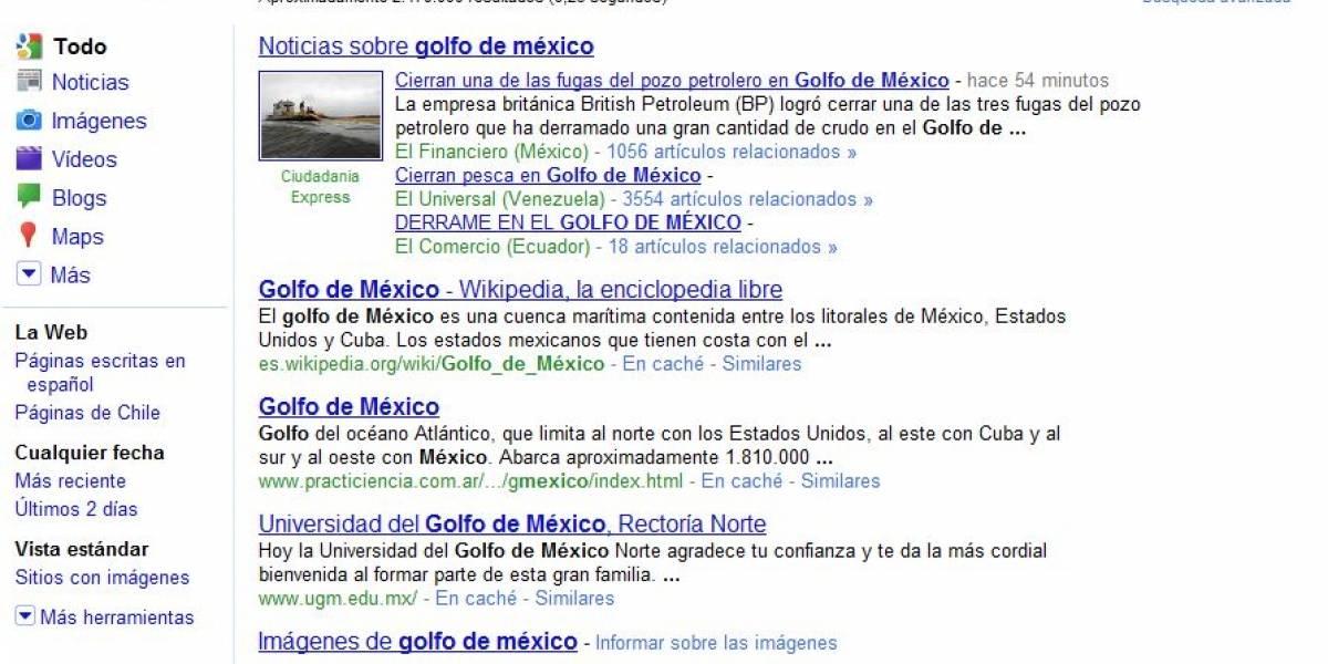Google hizo cambios en sus resultados de búsqueda