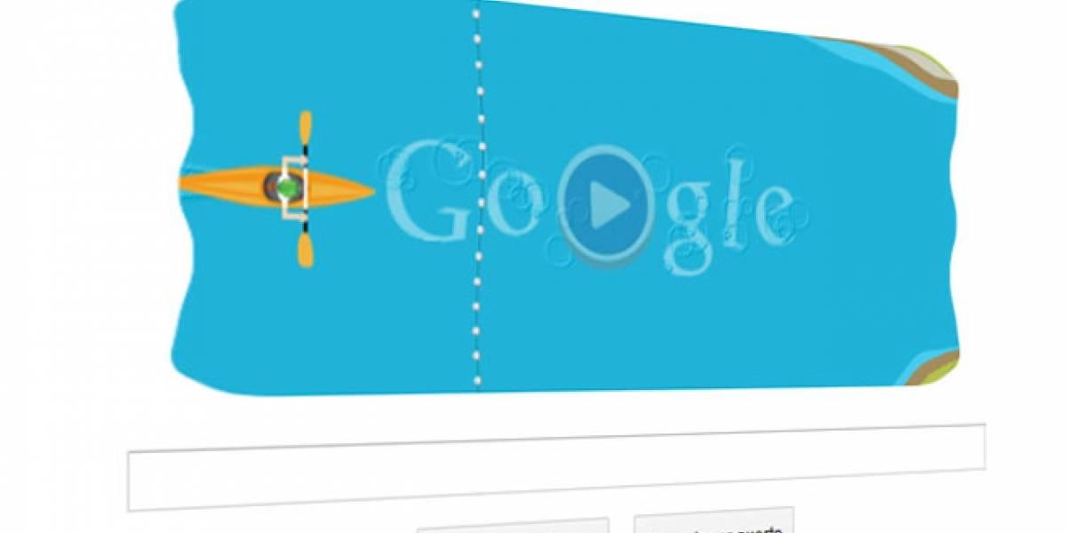 Google nos reta en aguas bravas con su tercer Doodle interactivo de Londres2012
