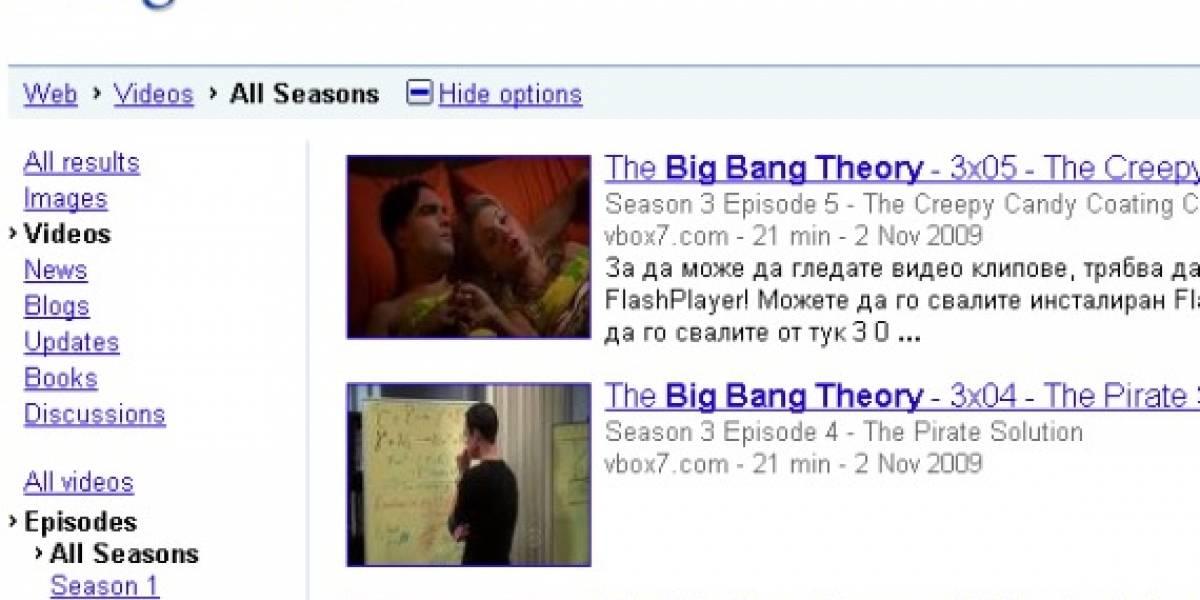 Google Video clasifica las series por temporada