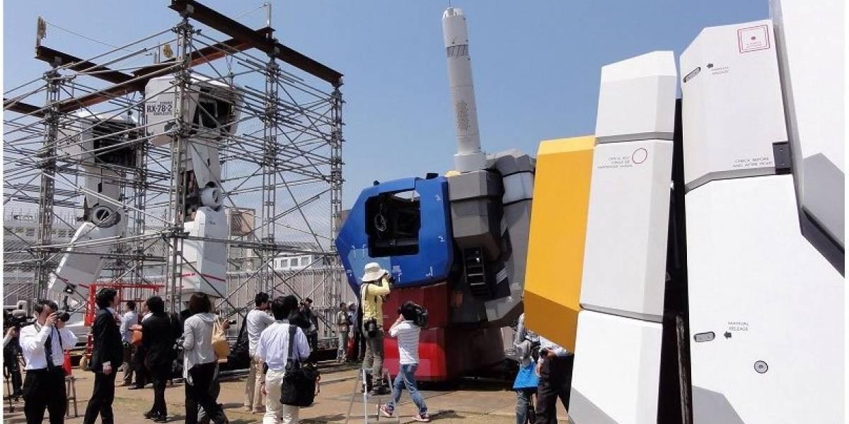 Comenzó la construcción del Gundam gigante en Japón