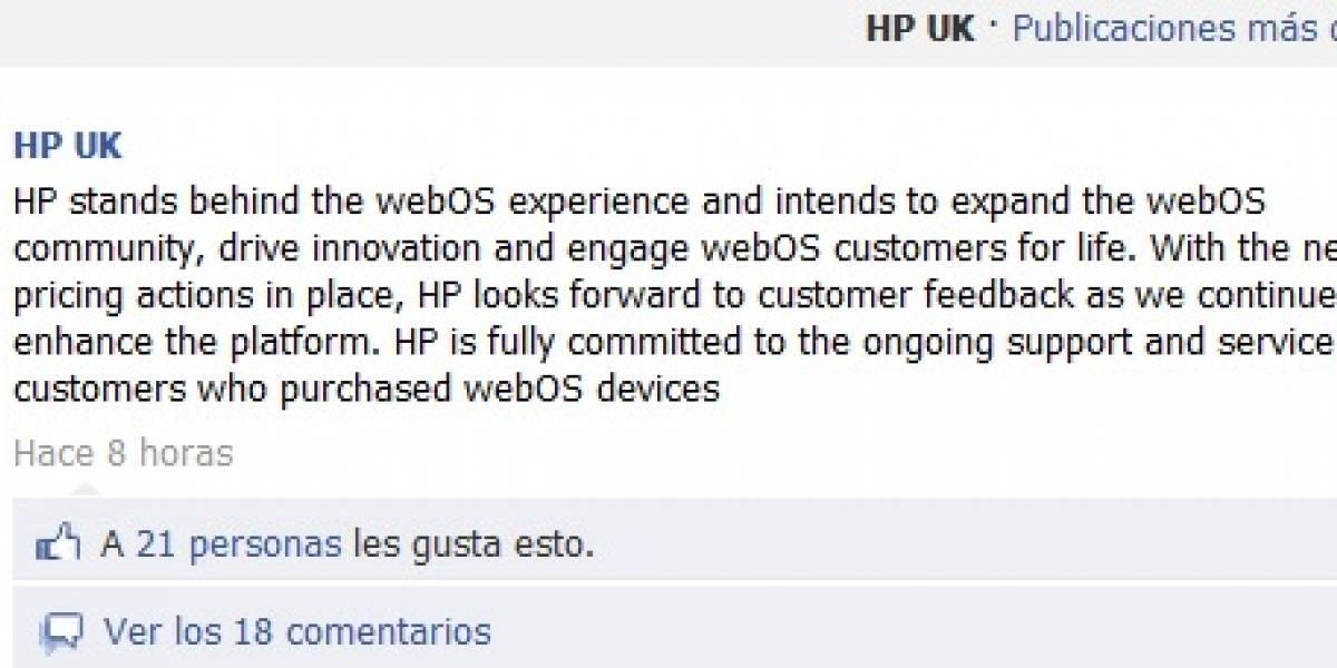 HP ahora dice que seguirá trabajando con webOS, no sabemos para qué