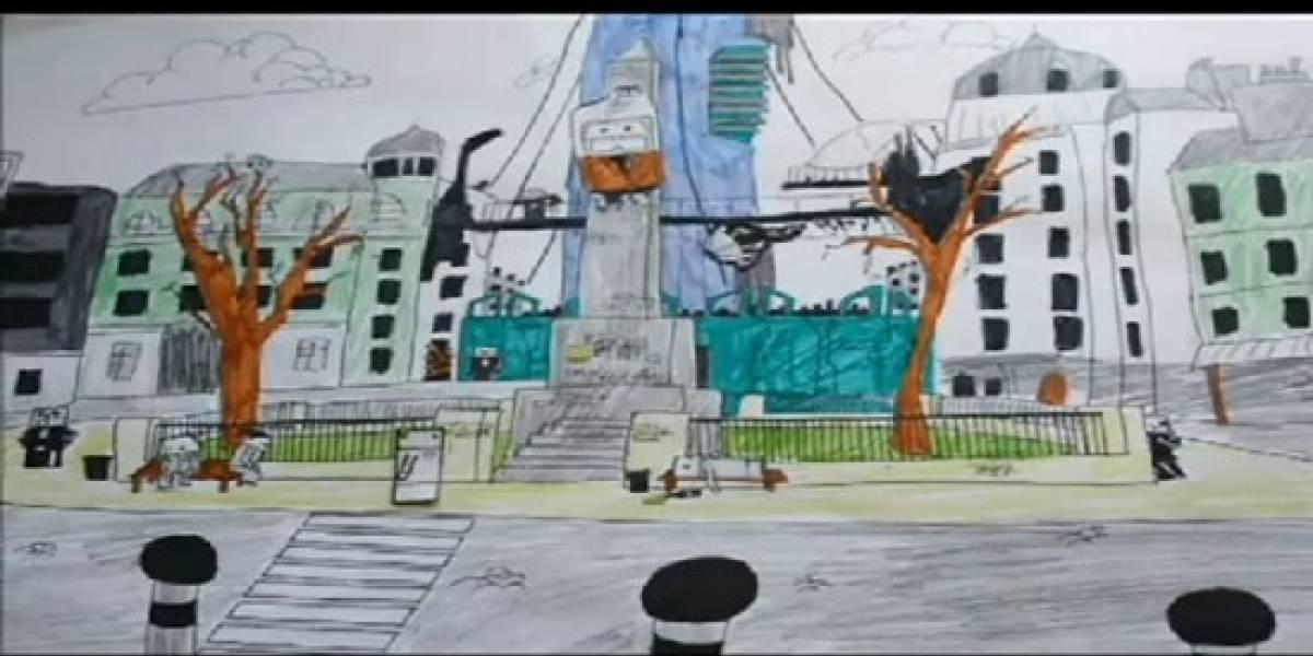 Notable animación de Half Life hecha con papel