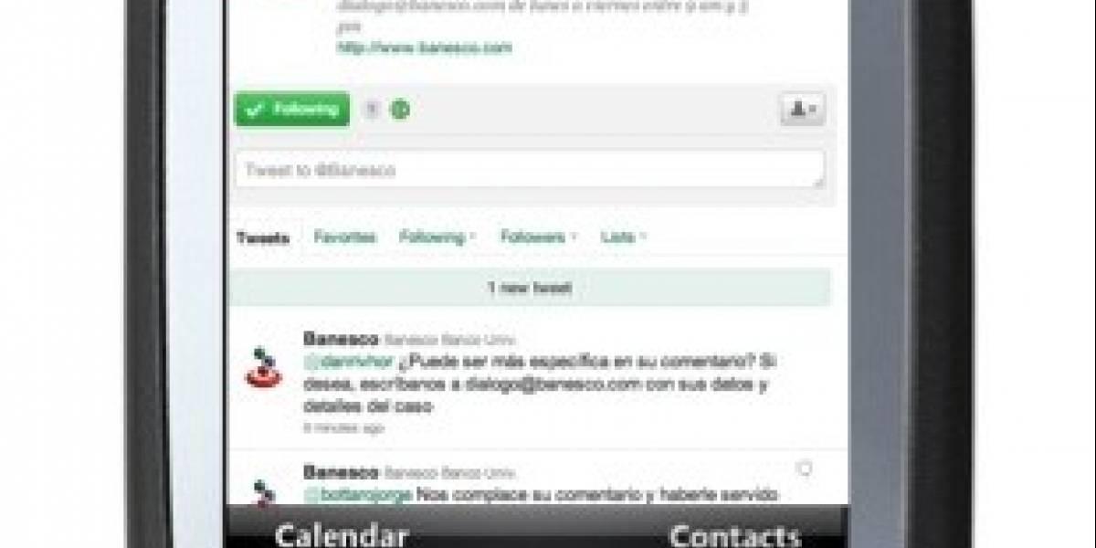 Venezuela: Banesco, pionero en apps móviles, es el banco con más seguidores de Twitter en el mundo
