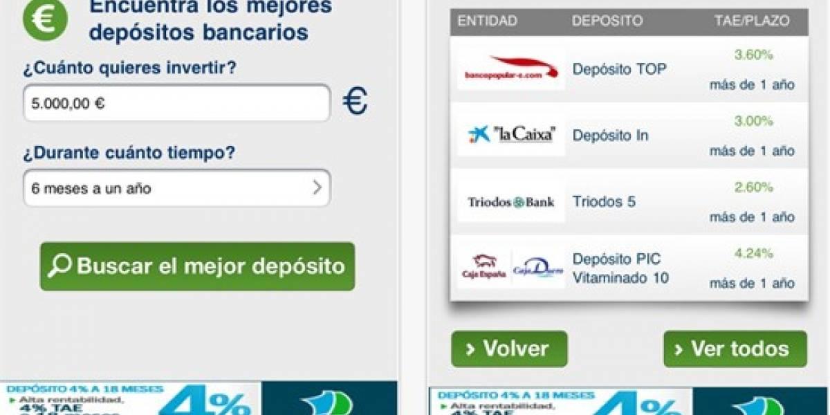 España: Busca la mejor opción bancaria desde tu iPhone con Iahorro