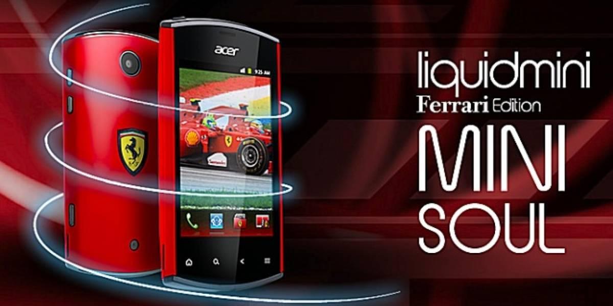 Nuevo Acer Liquid Mini Soul Ferrari Edition