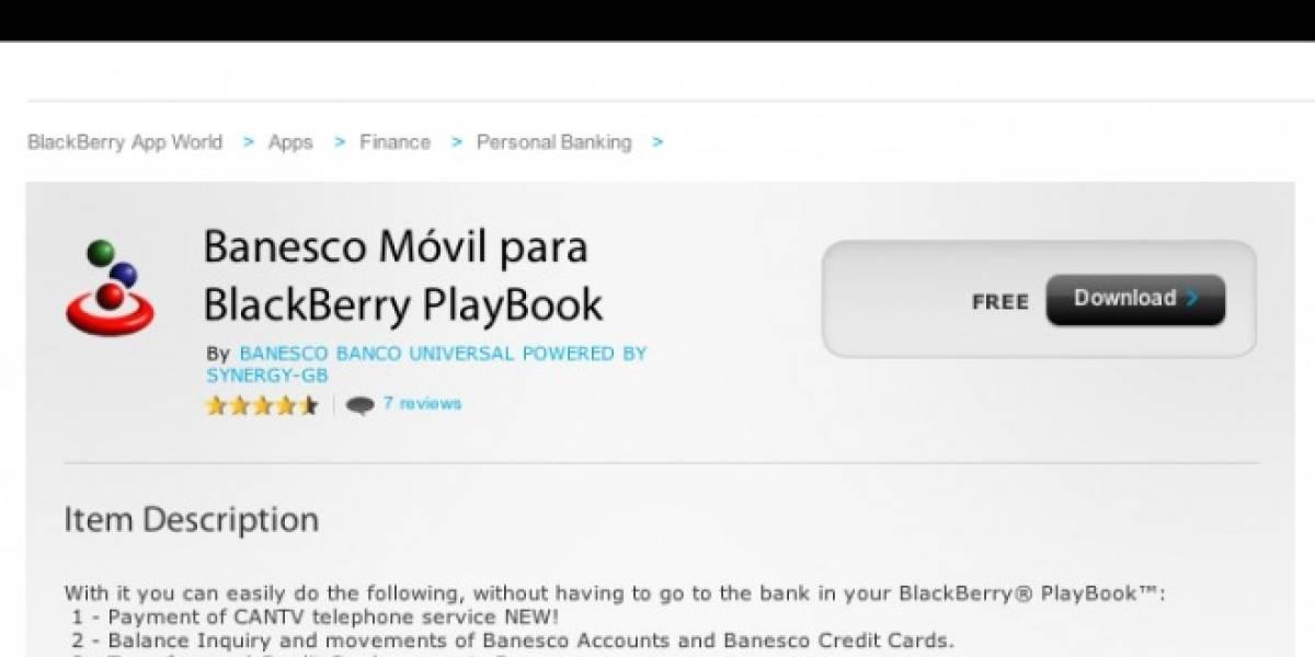 Venezuela: Banesco, pionero en desarrollo de app para PlayBook