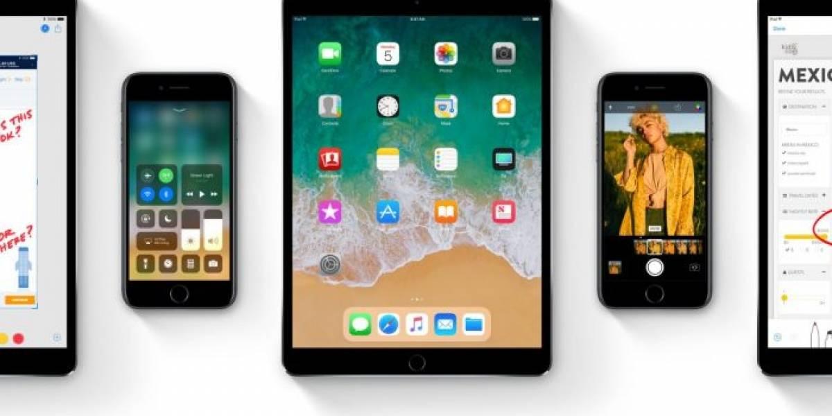 iOS 11 es usado por más del 65% de los usuarios de iPhone y iPad