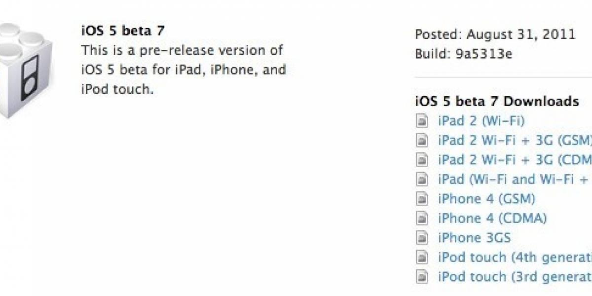 Apple lanza la beta 7 de iOS 5
