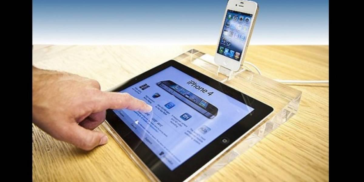 Tu tablet como si estuviera expuesta en una Apple Store