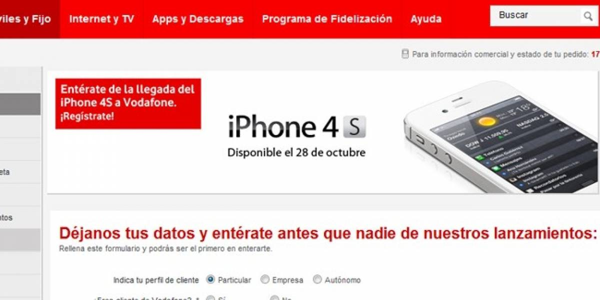 El iPhone 4S llegará a España con Vodafone