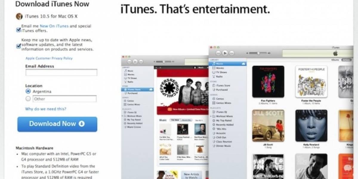 ¡Atenti, señores! iTunes 10.5 ya se puede descargar
