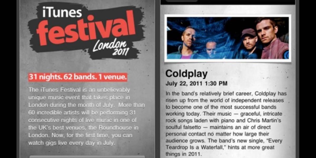 El iTunes Festival London 2011 ya tiene app para ver los conciertos por streaming