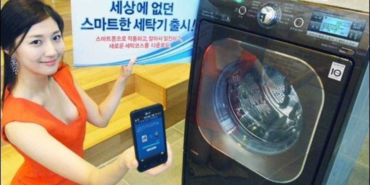 Lavadora manejada con una app te permite lavar calcetas apestosas desde tu móvil