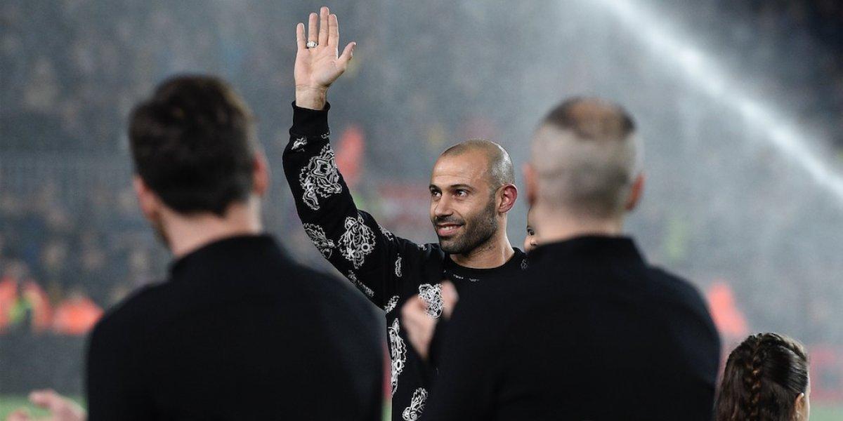 VIDEO. El Camp Nou le dijo adiós a un emocionado Javier Mascherano