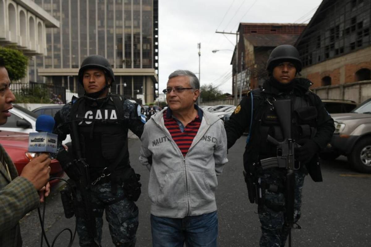 Rudy Villeda es trasladado a Tribunales Foto: Omar Solís
