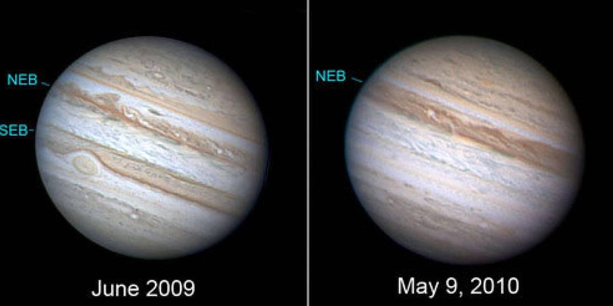 Desaparece un cinturón de Júpiter