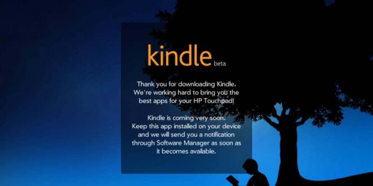 La aplicación de Kindle no se puede descargar en el HP TouchPad