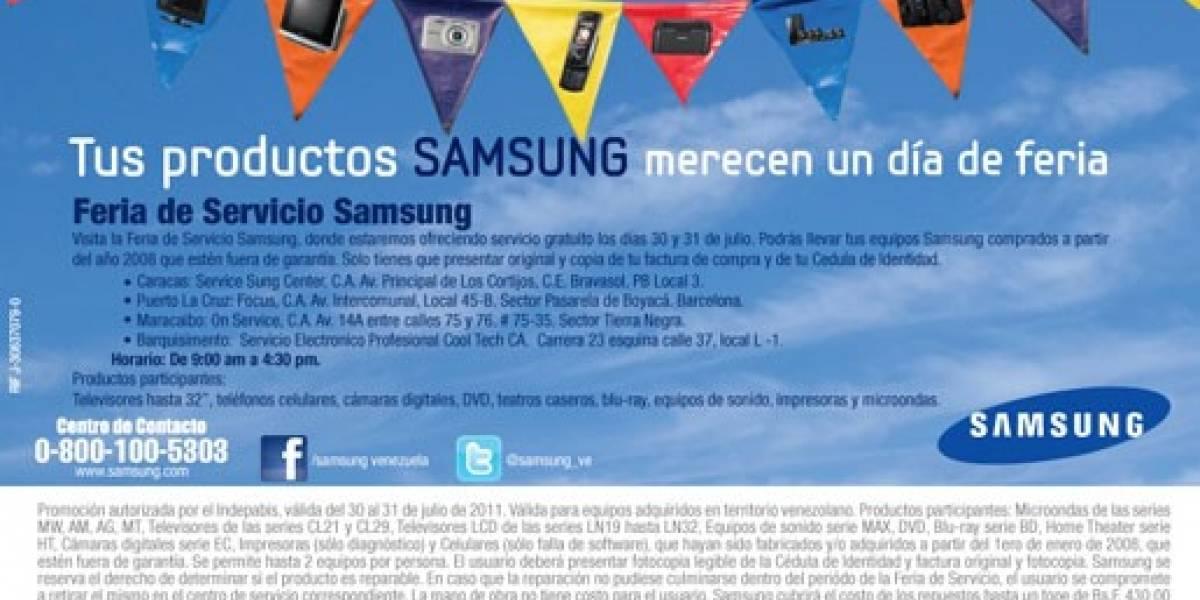 Venezuela: Samsung ofrecerá servicio técnico gratuito el fin de semana