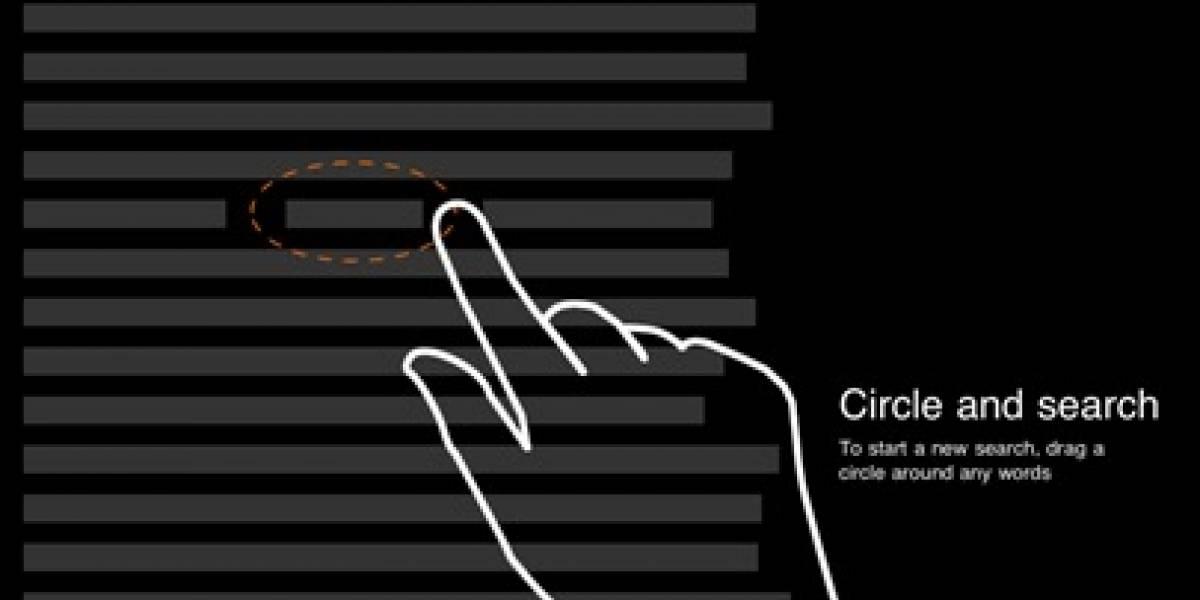 Ahora se puede buscar en Bing para iPad tan sólo rodeando texto con el dedo