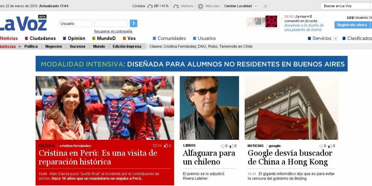 Argentina: El diario cordobés La Voz del Interior estrena diseño orientado a socializar la información