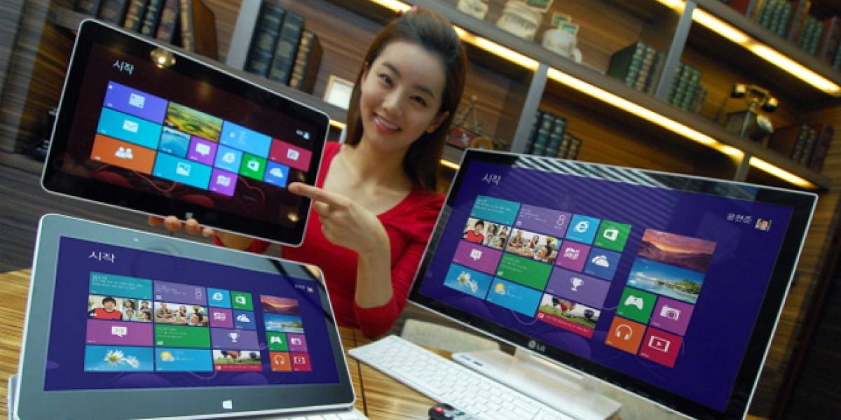 "LG presenta tablets y un ""todo en uno"" con Windows 8"