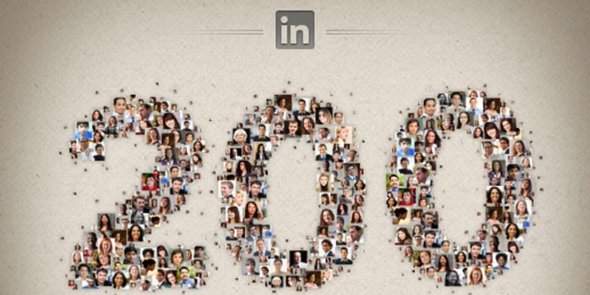 La red social LinkedIn alcanza los 200 millones de usuarios