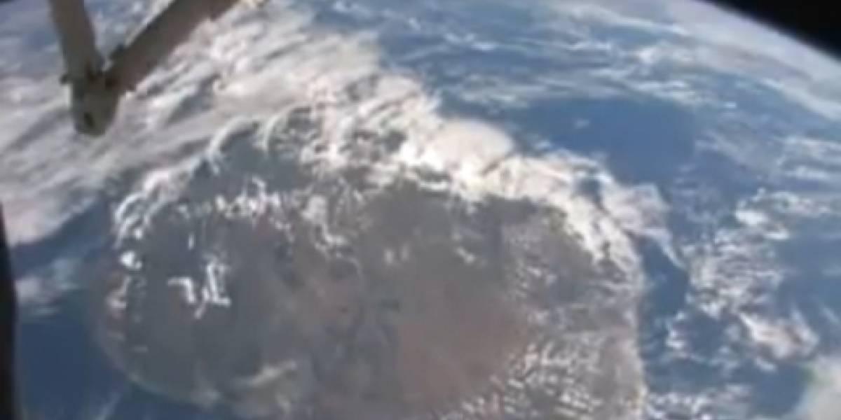 Astronauta japonés subió increíbles videos desde fuera de la Tierra