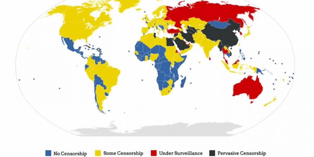 Infografía: Mapa de la censura de internet en el mundo