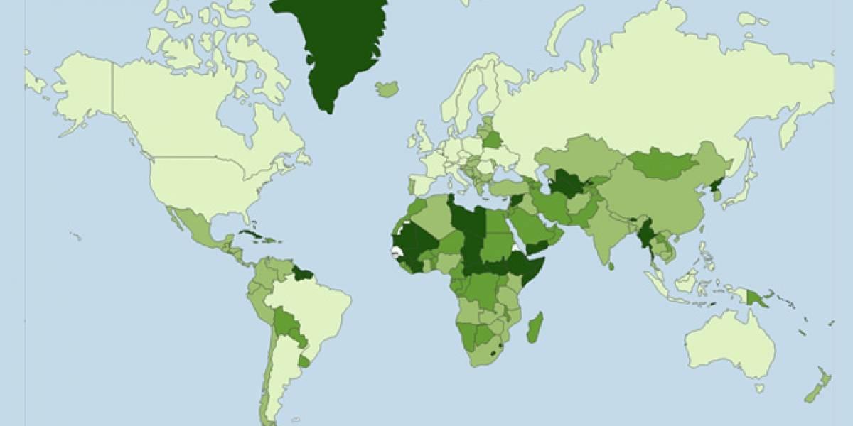 Mapa muestra qué tan fácil es desconectar a tu país de Internet