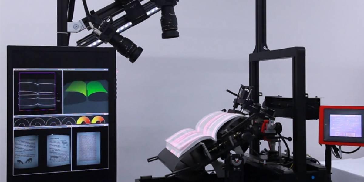 BFS-Auto: La máquina que escanea libros a un ritmo de 250 páginas por minuto
