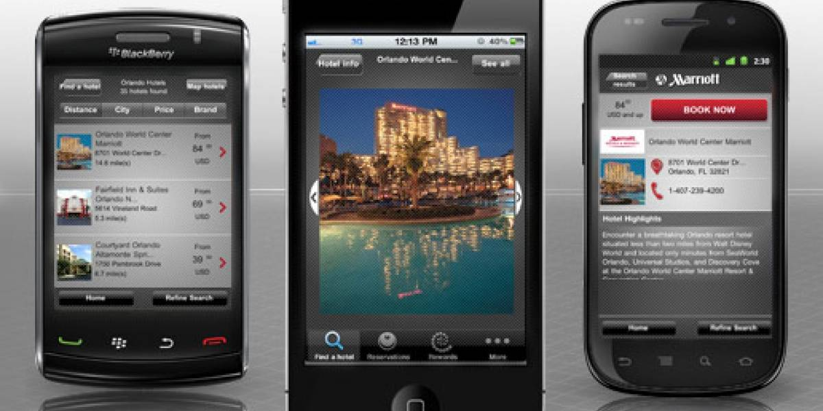 Cadena de hoteles Marriott dice presente en iOS, Android y BlackBerry