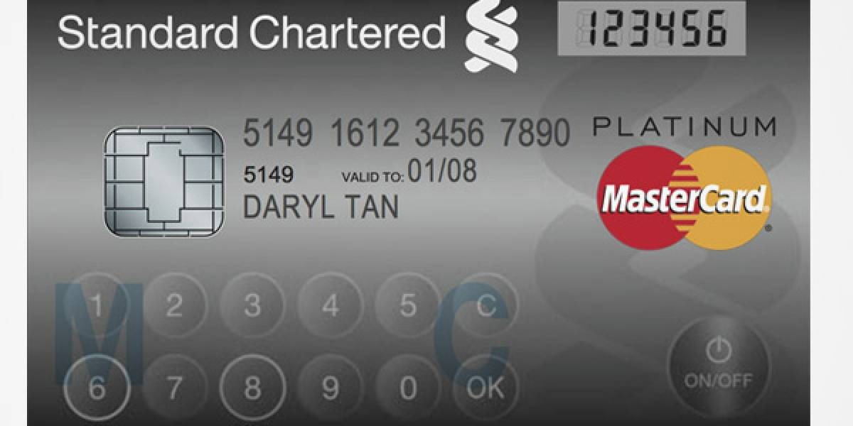 MasterCard presenta una tarjeta de crédito con pantalla LCD y teclado