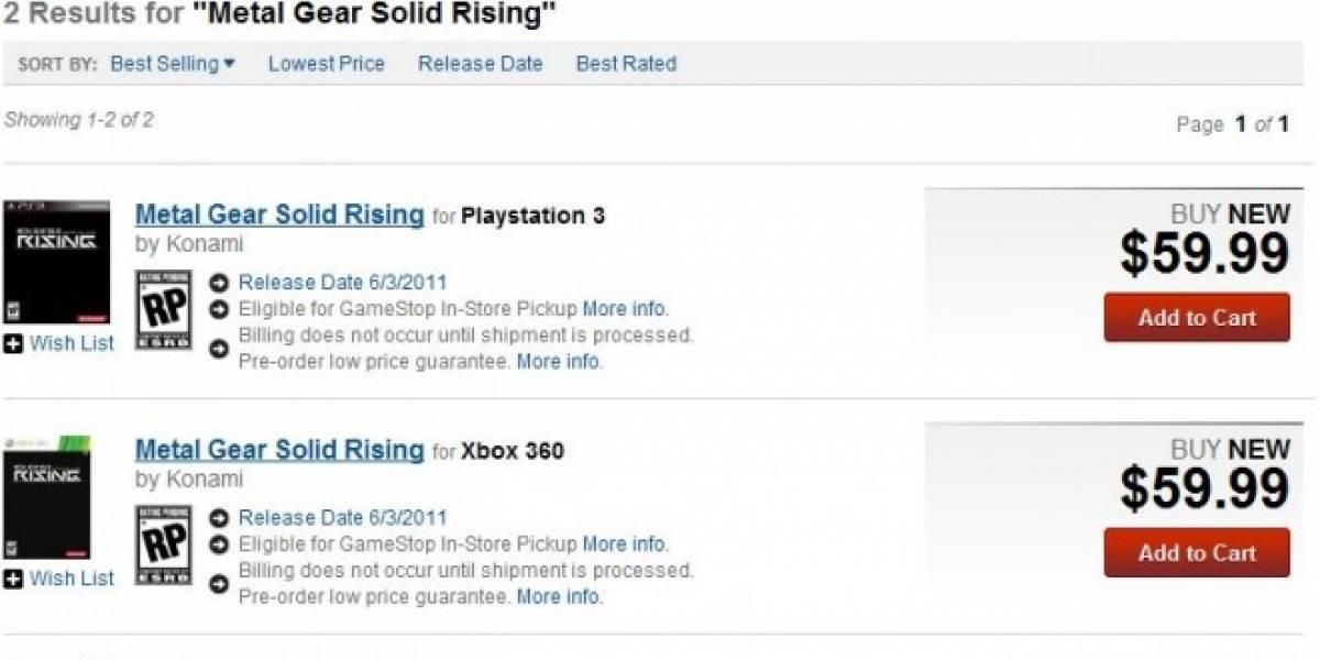 Futurología: Metal Gear Solid: Rising para Junio