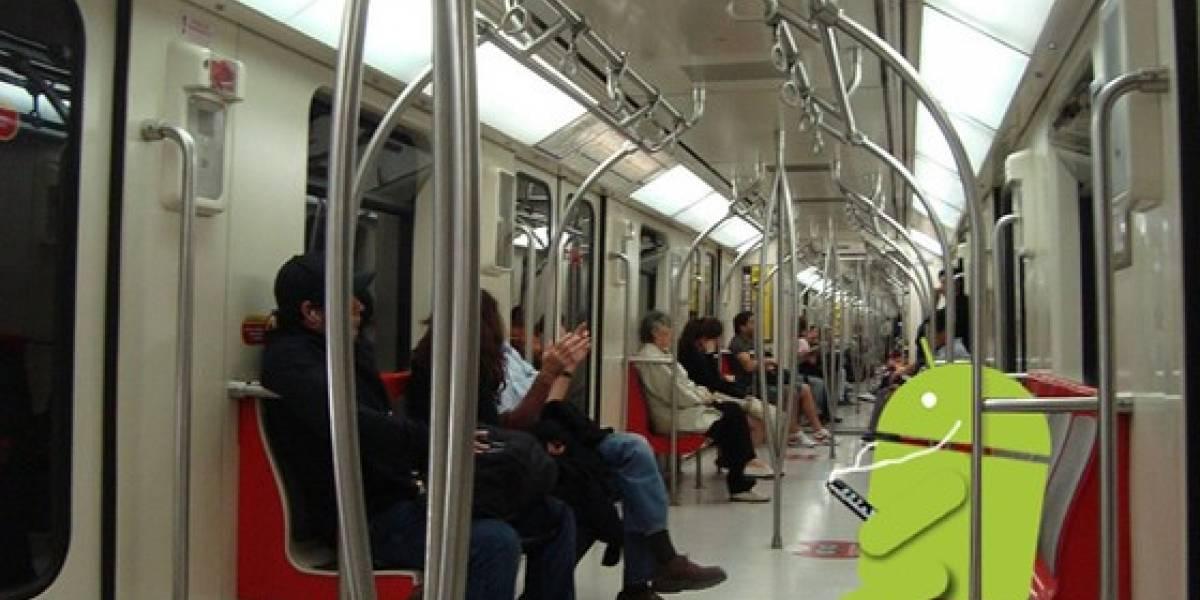 W Columna: Celulares en el Metro de Santiago